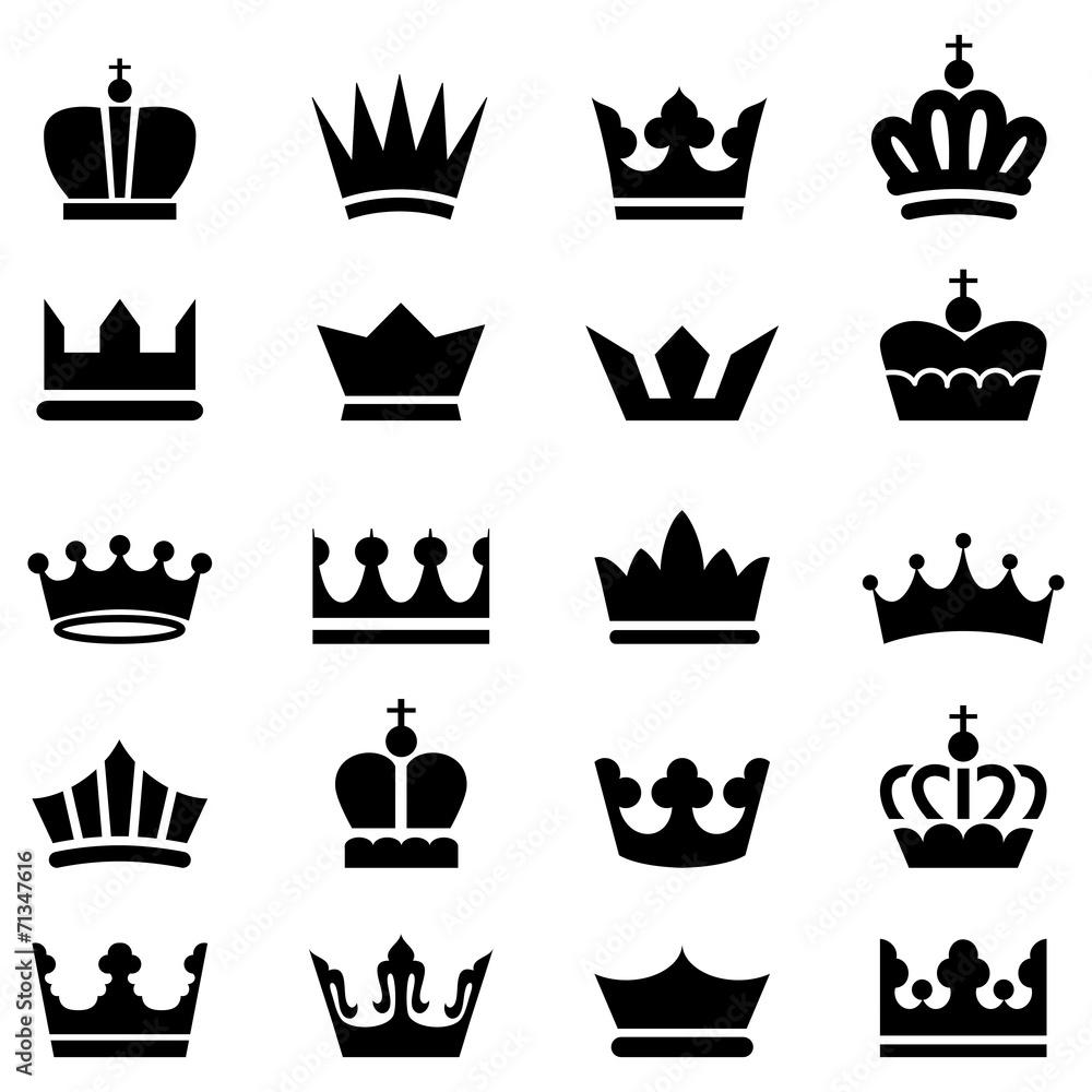 Fototapeta Crown Icons