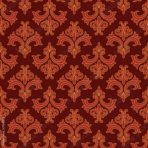 Fotografía  Red and Gold Gothic Pattern