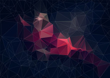 Abstract Retro ColorTriangle B...