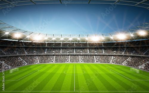 fototapeta na ścianę Stadion Seitenlinie neutralny