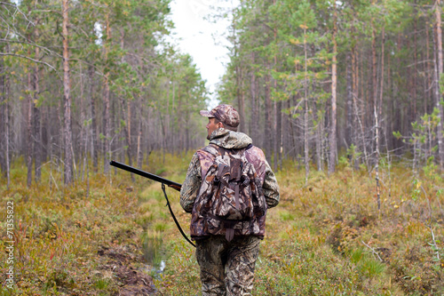 Photo sur Toile Chasse hunter outdoor