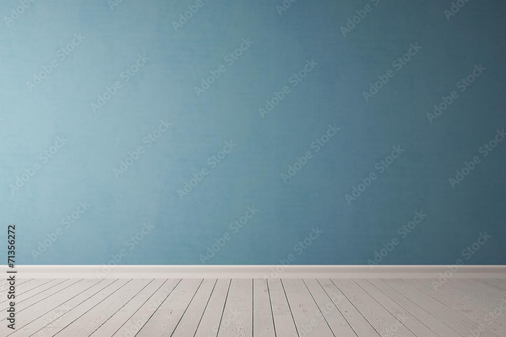 Fototapeta Blaue Wand aus Beton