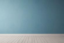 Blaue Wand Aus Beton
