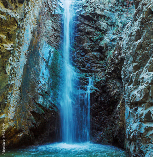 Millomeris Waterfall in Rock Cave, Troodos mountains