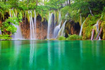 FototapetaBeautiful waterfalls at Plitvice Lakes National Park