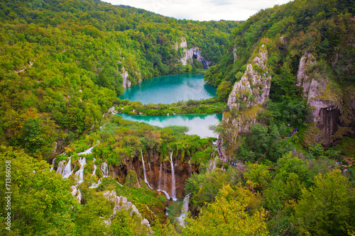 Fototapety, obrazy: Beautiful waterfalls at Plitvice Lakes National Park