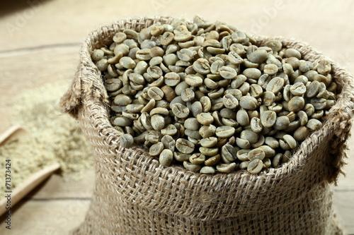 Fotografie, Obraz  primo piano caffe verde