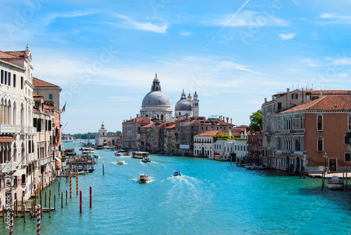 Fototapety, obrazy: Gorgeous view of the Grand Canal and Basilica Santa Maria della
