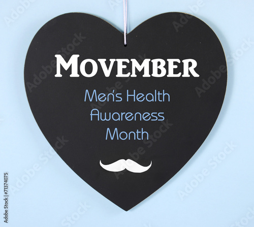 Photo  Movember mens health charity mustache symbol