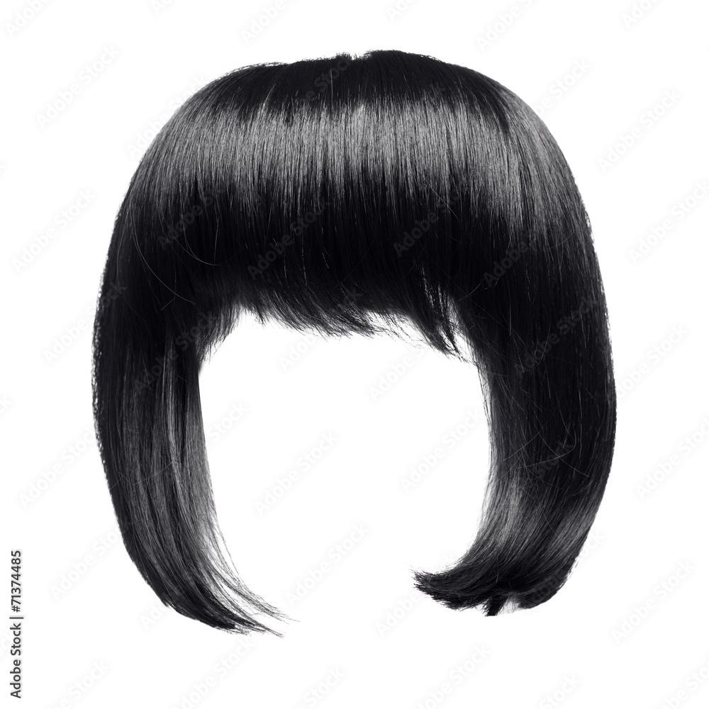 Fototapeta black hair isolated