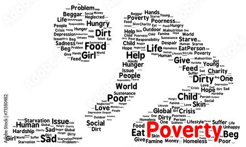 Photo Poverty word cloud shape