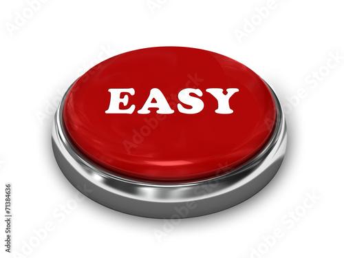 Fotografie, Obraz  Easy Button