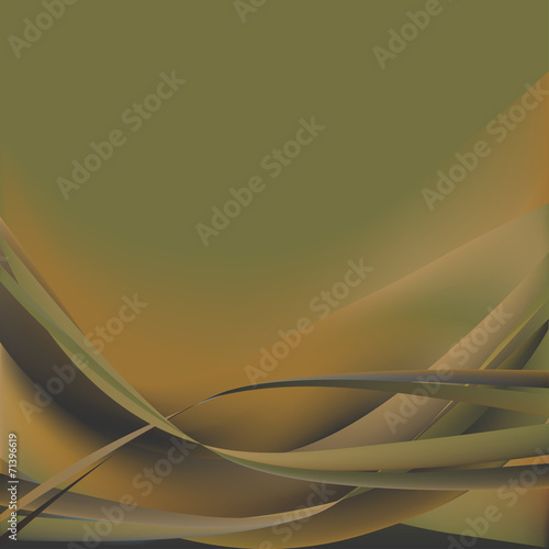 Colorful waves isolated abstract background khaki #71396619