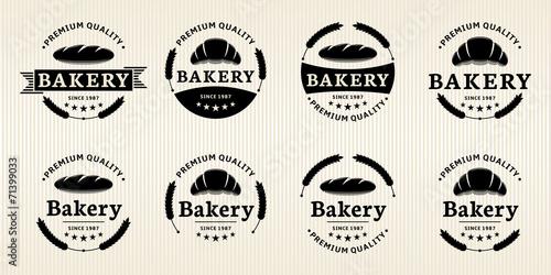 Fotografie, Obraz  Vector Bakery Labels