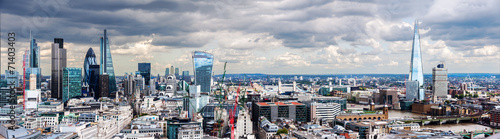 Aluminium Prints Dark grey The City of London Panorama