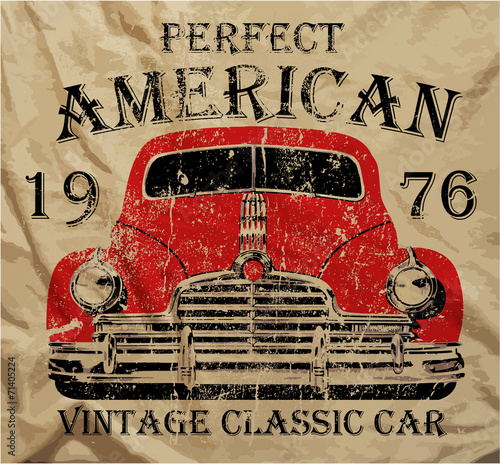 old-american-car-vintage-t-shirt-projekt-graficzny