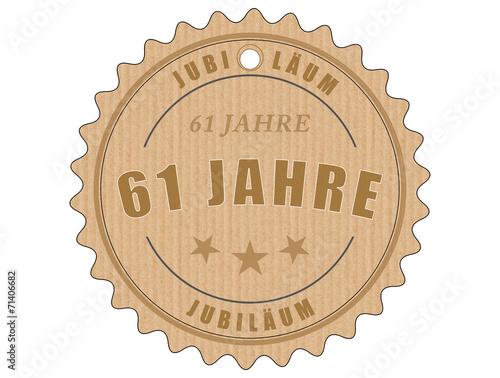 Fotografia  je61 JubiläumsEtikett 61 - vintagedesign - 61 Jahre - g1961