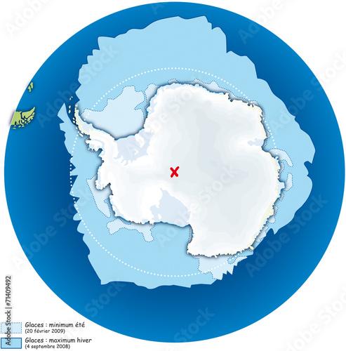 Fotografie, Obraz  Pôles - Antarctique 3 - Extension des glaces