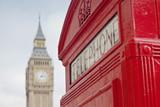 Fototapeta Big Ben - Red Telephone Booth and Big Ben in London