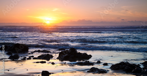 Valokuvatapetti Ocean Sunset at Point Reyes in California