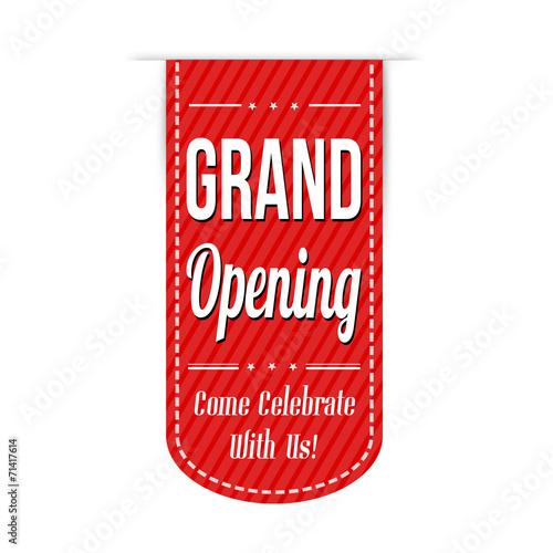 Fotografía  Grand opening banner design