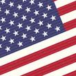 USA flag close up