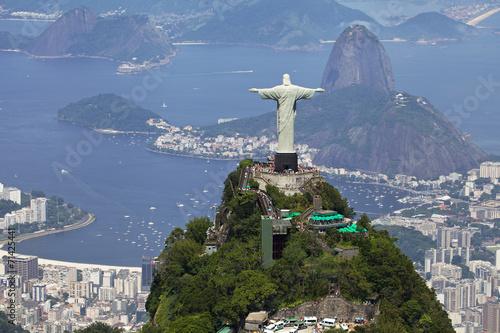 Photo sur Toile Rio de Janeiro Aerial view of Rio de Janeiro