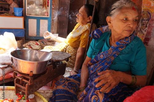 Keuken foto achterwand Nepal Market Women Nepal