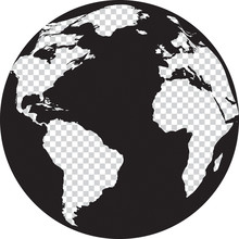 Black And White Globe With Tra...