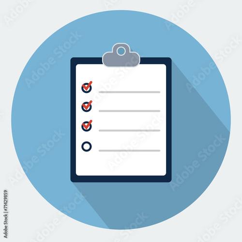 Fotografie, Obraz  Check list icon