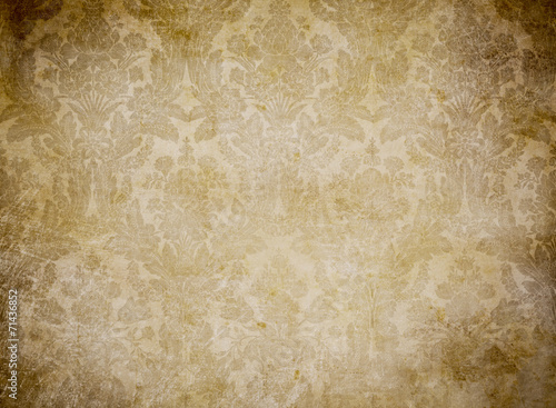 Foto op Canvas Retro grunge vintage wallpaper pattern background
