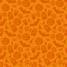 Halloween Vector Seamless Patt...
