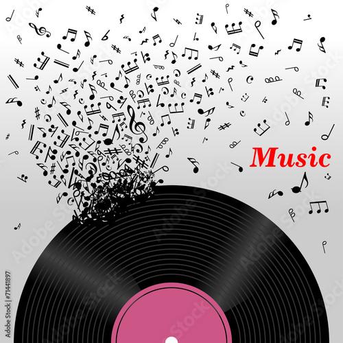 Retro music concept #71441897