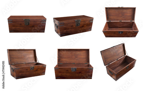 Fotografie, Obraz  Collage of wooden chest