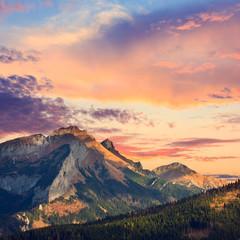 FototapetaTatra Mountains, vintage look