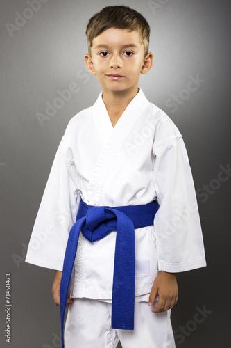 Photo  Portrait of an adorable little boy  in kimono