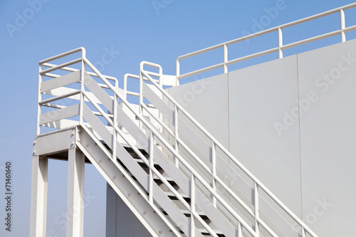 Photo Stands Stairs White stairway to the captain bridge on the big ship