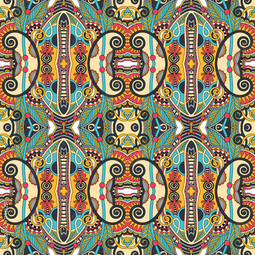 Foto auf AluDibond Boho-Stil seamless geometry vintage pattern, ethnic style ornamental backg