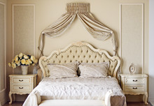 Luxury Bed In Romantic Style Bedroom