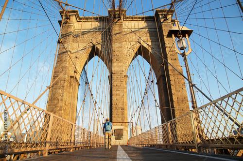 Keuken foto achterwand Bruggen Brooklyn Bridge at sunrise, New York City