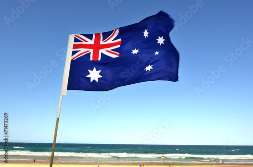 Foto op Canvas Australië The National flag of Australia
