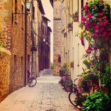 Fototapeta Alley - street in Pienza