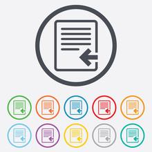 Import File Icon. File Documen...