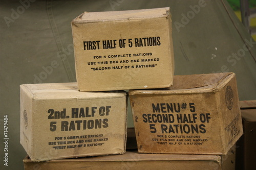Caisse ration WW2 Fototapeta