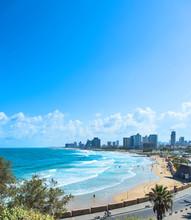 Tel Aviv Beach With Waves