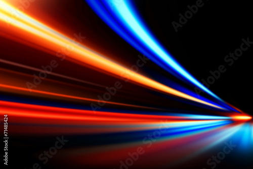 speed motion on night road Canvas Print