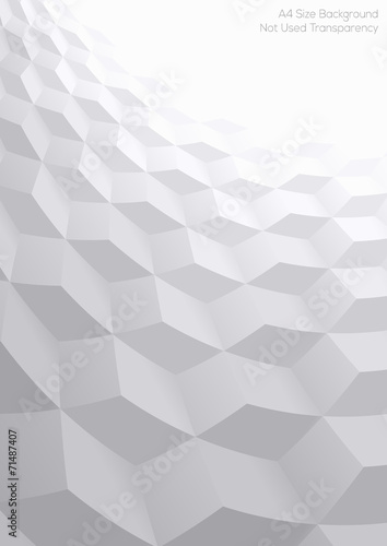 Abstract perspective background with 3d cubes #71487407