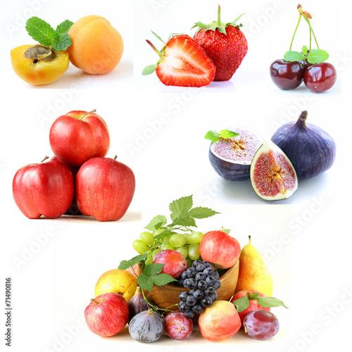 Poster Légumes frais Set various berries and fruits