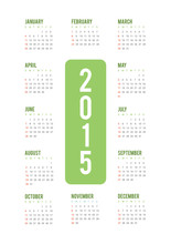2015 Minimal Calendar