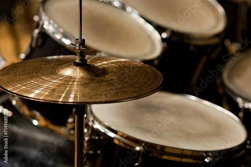 Fragment drumset closeup Canvas Print